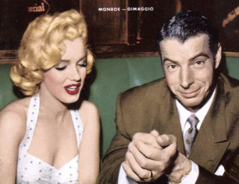 Fot. Wikimedia/ Photo of Marilyn Monroe and Joe DiMaggio from the cover of the January 1954 issue of Now magazine. / CC0 Public Domain