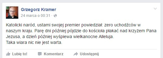 Facebook/Grzegorz Kramer