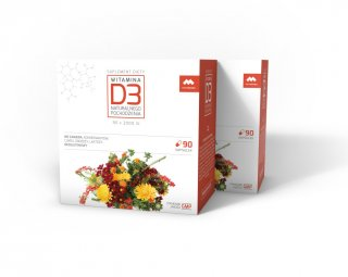 Witamina D3 zwiększa wchłanianie wapnia i fosforu, wzmacnia kości i mięśnie.