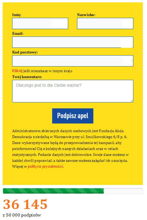 Fot. Screen z / Akcja demokracja