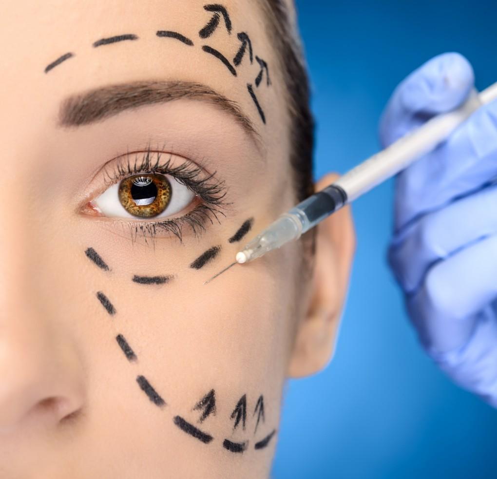 Pielęgnacja okolic oczu - w gabinecie, botoks