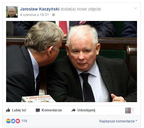 Fot. Screen z Facebook / Jarosław Kaczyński