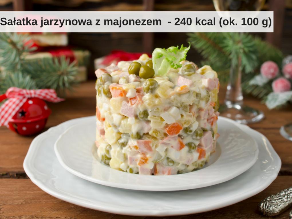 Ile kalorii ma sałatka jarzynowa z majonezem