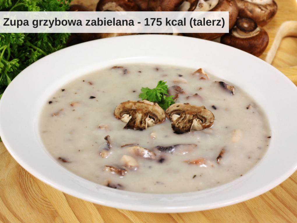 Ile kalorii ma talerz zupy grzybowej zabielanej
