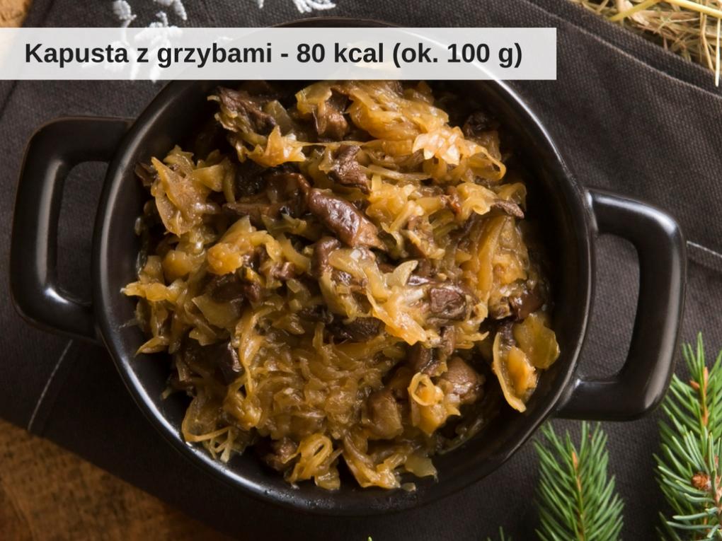 Ile kalorii ma kapusta z grzybami