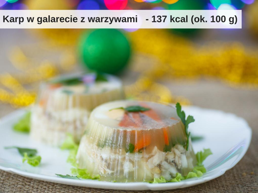 Ile kalorii ma karp w galarecie z warzywami