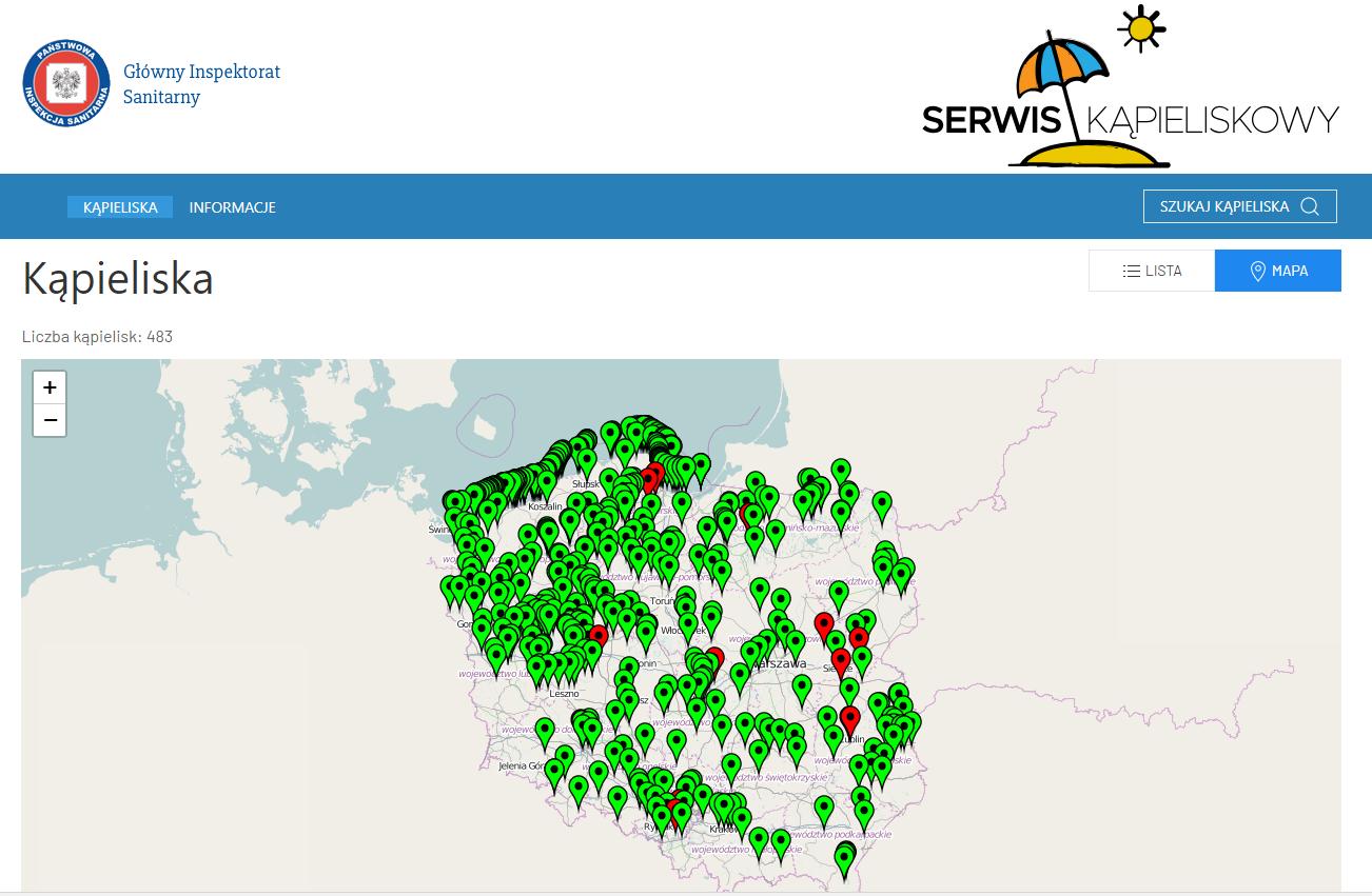 Fot. Screen ze strony Serwis kąpieliskowy